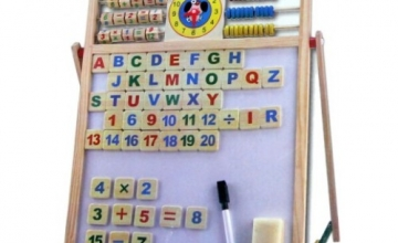 2 in 1 Magnetic Slate Educational Board with Alphabets & Numbers